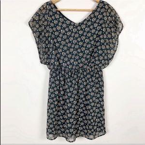 🌿Lush Boho Pattern Black Dress